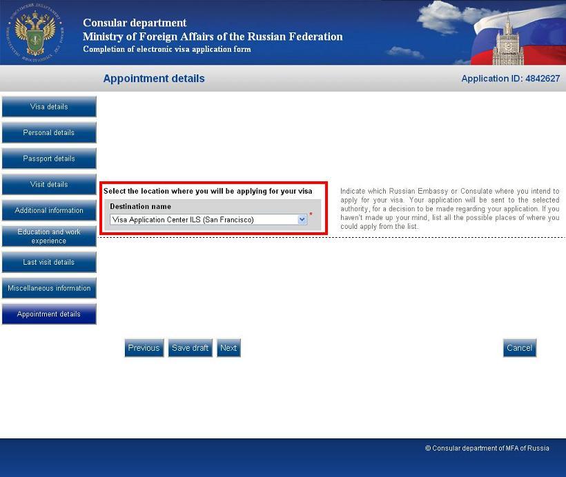Russian embassy paris visa application